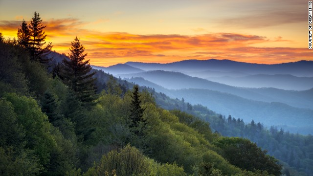 Great Smoky Mountains National Park,which is located in North Carolina and Tennessee, is the most-visited in the U.S. National Park Service.
