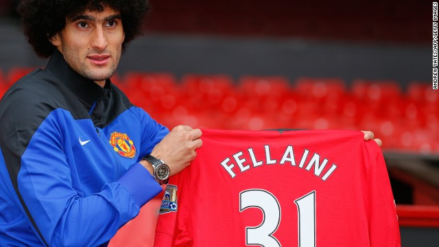Former Everton midfielder Marouane Fellaini joined United in September 2013 for a fee of £27.5 million ($46 million). But Moyes' first signing has failed to make an impact at his new club so far. The arrival of Juan Mata for £37.5 million ($63 million) from Chelsea in January was more welcome to United fans but the Spaniard hasn't been able to stop the rot.