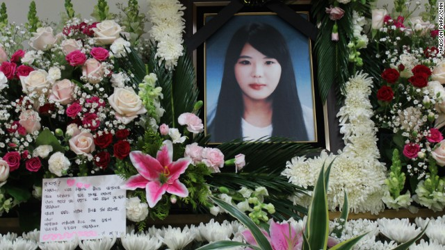 Witnesses say Park Jee Young, a 22-year-old crew member, refused a life vest because she was too busy helping passengers.