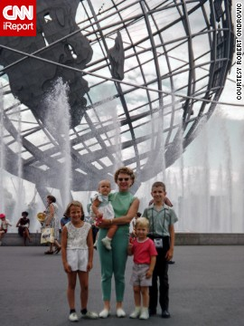 Going to the 1964 World's Fair in Queens, New York, was <a href='http://ireport.cnn.com/docs/DOC-1123630'>like taking a vacation</a> for the Ondrovic family, says Robert Ondrovic. Robert is the boy with the pink shirt, standing with his mother, brother and two sisters.