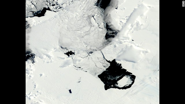 The iceberg, named B31, separated from the Pine Island Glacier in November 2013.