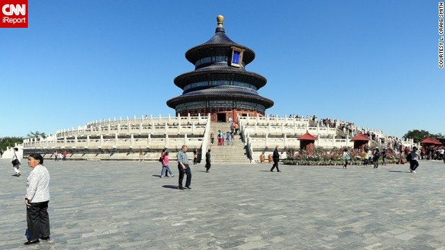 The Temple of Heaven in Beijing, China, was the site of Heaven worship ceremonies during the Ming and Qing dynasties. The temple is the largest of China's ancient sacrificial buildings and first opened to the public in 1918.