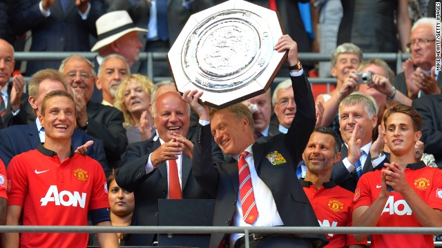 Moyes opened his account with a 2-0 win against Wigan in August to secure the English Charity Shield -- a match played between the league champions and the FA Cup holders -- while also becoming the first United manager since Walter Crickmer in April 1931 to start life with a victory.