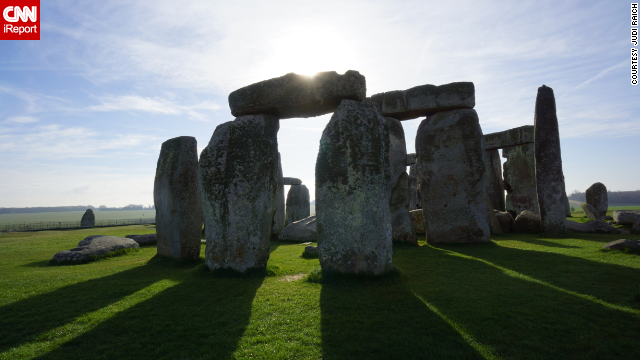 "<a href='http://ireport.cnn.com/docs/DOC-1061615'>Judi Raich</a> said visiting Stonehenge in Wiltshire, England, ""was a bucket list dream come true."" The stone circle was erected around 3000 B.C. and stands as a relic of funeral practices during Britain's Neolitihic and Bronze Age. Stonehenge became a World Heritage Site in 1986."