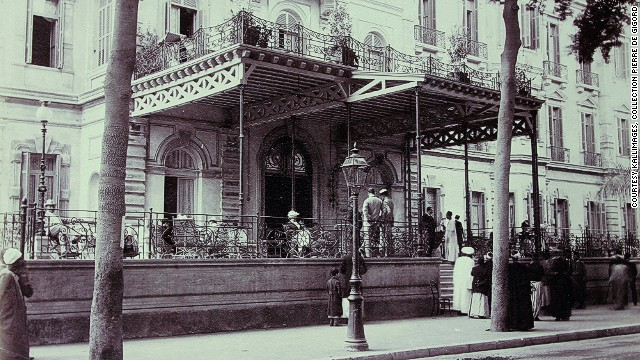 It also attracted royalty, aristocracy diplomats, and the bourgeoisie with its luxurious decor, excellent cuisine, and superb service which matched Europe's most exclusive establishments. This image shows the Shepherd's Hotel in Cairo, where many Orient Express passengers would stay.