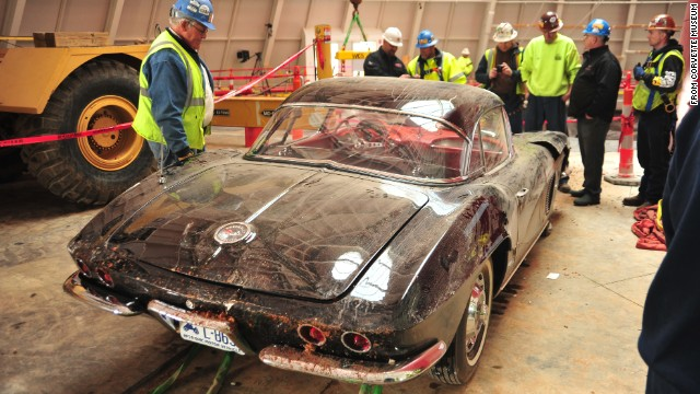 "Despite the car's sinkhole ordeal, museum board member Dana Forrester said it appears the 1962 Corvette ""really didn't sustain all that much damage, and I think it will be fairly easily restored. It's just going to need some repair of some punctured or cracked fiberglass. It kind of amazed me that that older fiberglass seemed to hold up better than some of the newer composite plastics that they have."""