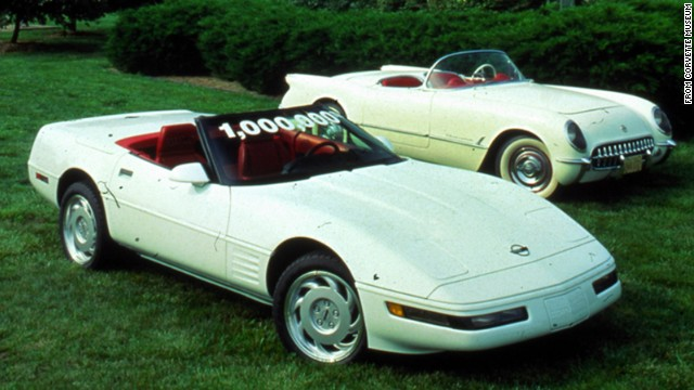 SWEET! This 1992 model is the 1 millionth Corvette ever produced. <a href='http://www.gm.com/article.content_pages_news_us_en_fastlane_2014_mar_0304-corvette.html' target='_blank'>GM says</a> it was built around 2 p.m. on July 2, 1992, at Corvette's Bowling Green Assembly Plant. The 1 millionth Corvette was a white convertible with red interior, as was the first-built Corvette in 1953 -- like the car on the right.