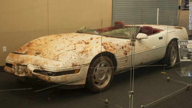"After it emerged from the sinkhole, the museum said the 1 millionth Corvette's ""undercarriage and frame look to be in good condition and everything is repairable."""