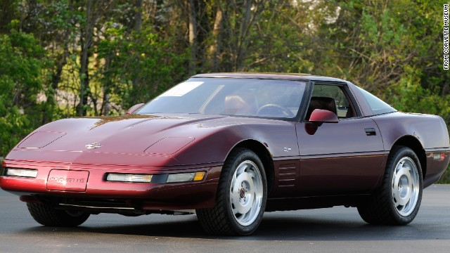 "NICE! The 1993 40th Anniversary Corvette stood out for its special ruby red exterior, matching leather seats and wheel centers. It also had a ""40th Anniversary"" logo emblazoned on its side. In total, 6,749 40th Anniversary Corvettes were built -- as coupes or convertibles, Forrester said."