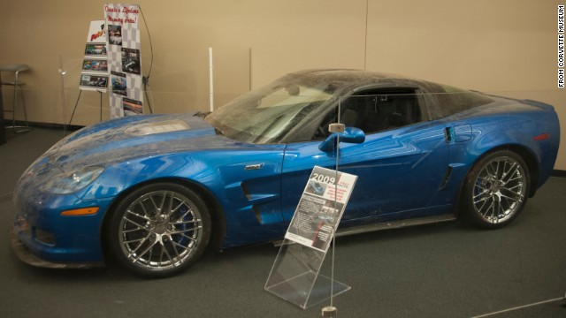 "When it exited the sinkhole, the Blue Devil was deemed to be in ""remarkable shape,"" <a href='http://media.gm.com/media/us/en/gm/news.detail.html/content/Pages/news/us/en/2014/mar/0303-corvette-sinkhole.html' target='_blank'>Spencer told GM</a>. ""Cosmetically, the carbon fiber running boards are shattered,"" he said. ""There's some minor paint damage, and a small crack in the windshield. Mechanically, the worst damage is a split in the oil-supply line ... If you fixed that, you could drive the ZR1 back to Detroit."""