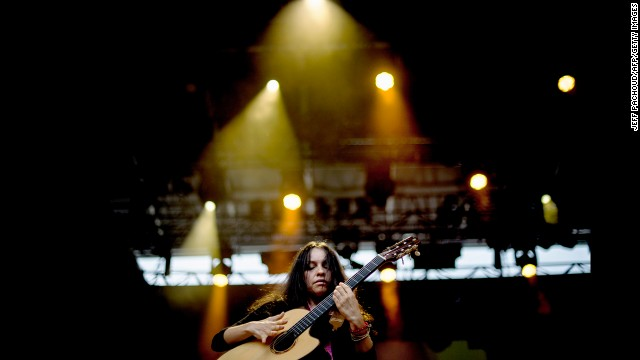 Mexican musician Gabriela Quintero performs in 2012 as part of the Nuits de Fourviere music festival. The summer festival sees 60 or so shows, many of which take place in an unbeatable setting: Lyon's main Roman amphitheater, built around 15 B.C.