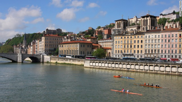 Lyon has two rivers to Paris' single aquatic thoroughfare. The Rhone and the Saone both curve through the city.