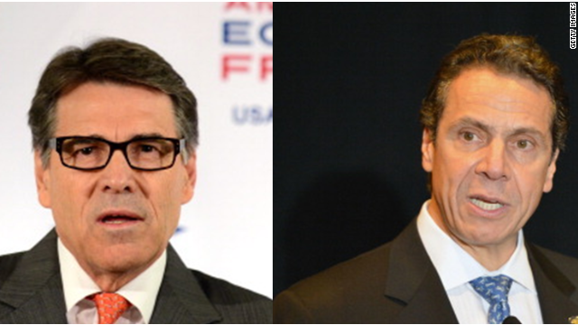 Rick Perry challenges Andrew Cuomo to debate