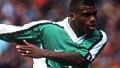 Sunday Oliseh plays for NIgeria at the 1998 World Cup in France.