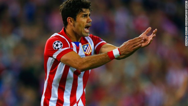 Atletico Madrid's star striker Diego Costa had few clear sights of goal as Chelsea kept a defensive stranglehold in the Vicente Calderon in the first leg tie.