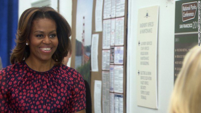 "First lady Michelle Obama makes an appearance as herself in NBC's ""Parks and Recreation,"" which airs April 24. Obama has appeared in a variety of TV shows since her husband was elected president. Click through the gallery to see her TV appearances."