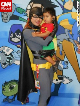 Mother and son make a real dynamic duo as <a href='http://ireport.cnn.com/docs/DOC-815772'>Batgirl and Robin</a> at the San Diego Comic-Con in 2012.