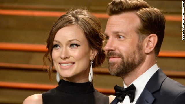 Olivia Wilde and Jason Sudeikis attend the 2014 Vanity Fair Oscar Party on March 2 in West Hollywood, California.