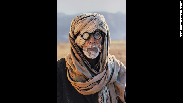 An Afghan refugee in Baluchistan, 1981.