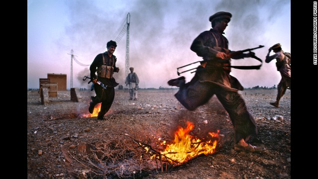 Young men train for war in Nangarhar province, 1984.