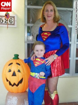 <a href='http://ireport.cnn.com/docs/DOC-979437'>Cynthia Falardeau</a> has encouraged her son, Wyatt, to seek out superhero role models like Superman. Falardeau says these heroes helped give her confidence while growing up.