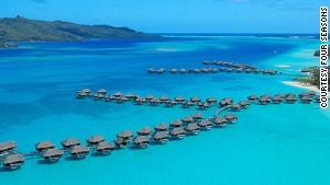 Bora Bora, one of the stops on Four Seasons\' upcoming around-the-world trips.