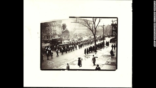 He documented life during and beyond the famed Harlem Renaissance of the 1920s. This is a funeral procession in 1925.