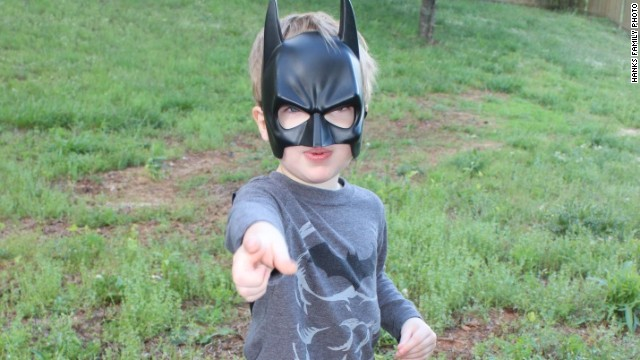 "Gilbert Hanks (son of CNN's Henry Hanks) in suburban Atlanta, Georgia, is one of the many children out there fascinated with superheroes. Thanks in large part to blockbuster movies like ""Avengers"" and ""The Dark Knight"" children love to dress as their favorite superheroes."