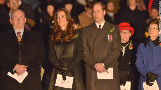 The royal couple attend Anzac Day commemorative services at the Australian War Memorial on April 25 in Canberra, Australia.