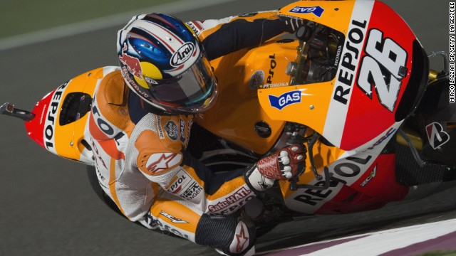 Marquez's 10-race winning streak was halted in the Czech Republic on August 17 as teammate Dani Pedrosa took victory ahead of Yamaha duo Jorge Lorenzo and Valentino Rossi. Marquez finished fourth.