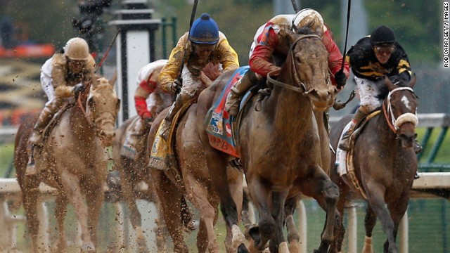 "Last year's winner of a race billed as ""the fastest two minutes in sport"" was Orb, ridden through the mud to victory by jockey Joel Rosario."