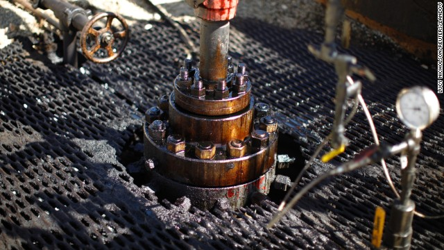 A pumpjack drills for oil at the Monterey shale formation in California in April 2013. The U.S. government estimates that as many as 15 billion barrels of oil could lie within the formation, but most of it is not retrievable without fracking.