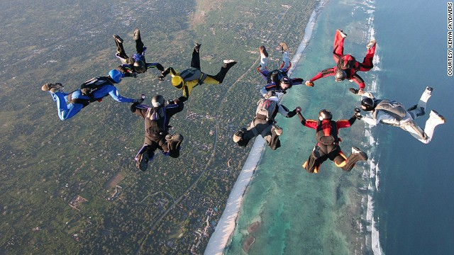 Skydive Diani and Kenya Skydivers offer exhilarating free falls over the Indian Ocean coast and East African bush.