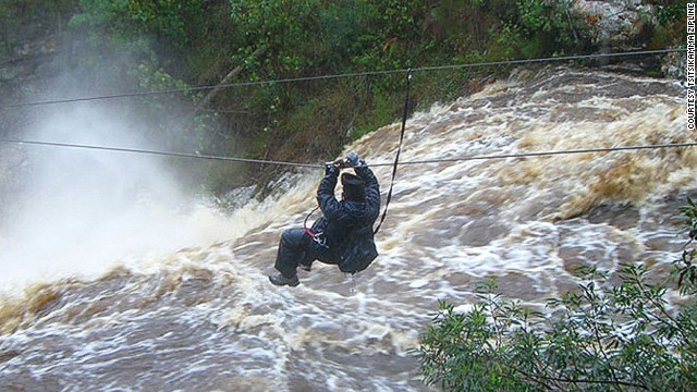 Zipline fliers can control their speed as they hurtle through Tsitsikamma, a jumble of rainforest, rivers and rocky cliffs along South Africa's Garden Route.