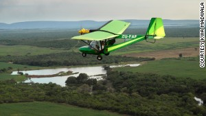 Kwa Madwala Private Game Reserve\'s private microlight flight.