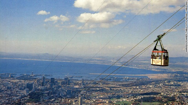 This is just part of the amazing view of Cape Town and the Cape of Good Hope from the Table Mountain Cableway.