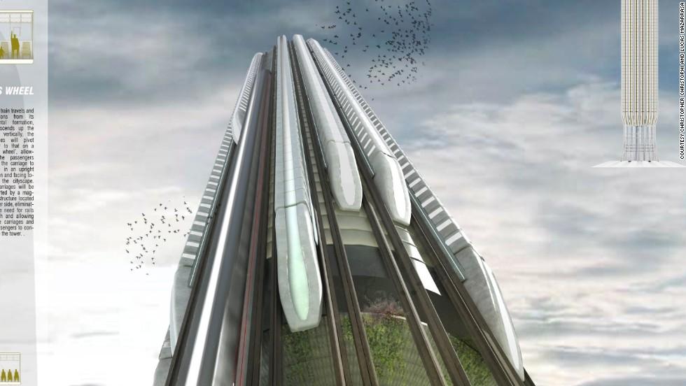 Transporte del futuro: tren vertical de alta velocidad