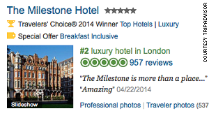 TripAdvisor now includes the AA star rating on its hotel listings for the UK, as well as user-generated review ratings.