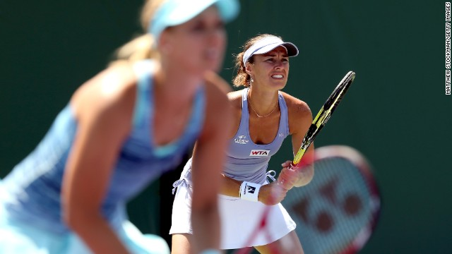 But in 2013 Hingis makes another surprise return to tennis, exclusively playing doubles. In 2014, she is partnering Germany's Sabine Lisicki, who she also happens to be coaching.