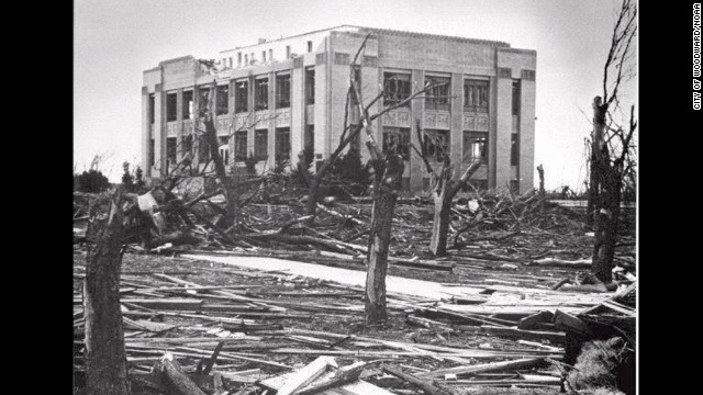 "6. The ""Woodward Tornado"" wreaked havoc across parts of Texas, Oklahoma and Kansas on April 9, 1947 killing 181 people and injuring 970. The funnel cloud reportedly was more than a mile wide in places."