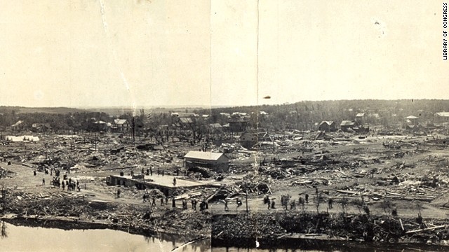"9. The ""New Richmond Tornado"" killed 117 people and injured 200 on June 12, 1899, in New Richmond, Wisconsin."