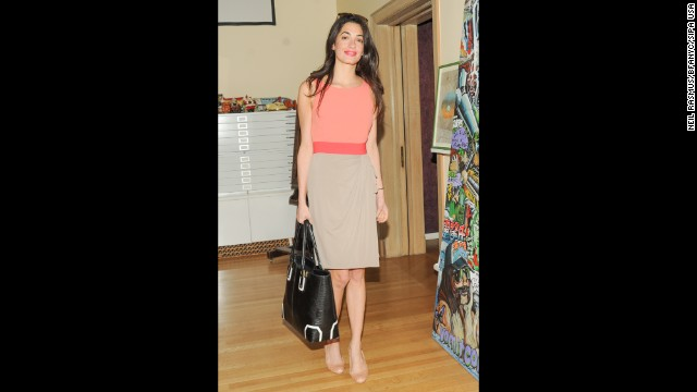Alamuddin appears at the launch of the Limoland clothing line on May 7, 2013, in New York.