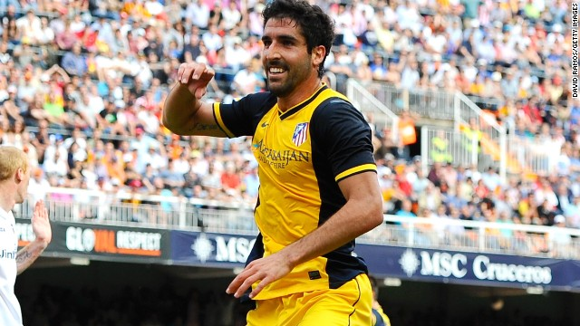 Raul Garcia scored the only goal of the game in Atletico Madrid's 1-0 win at Valencia.