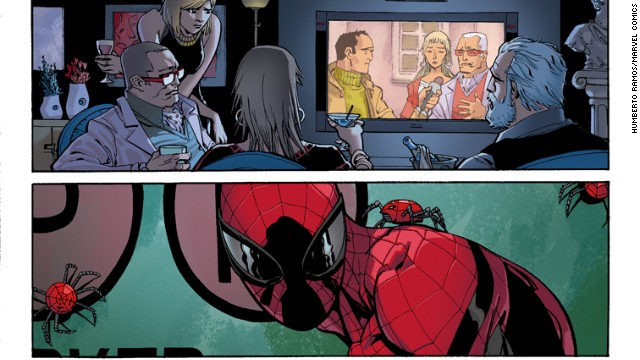 "More detail from ""Amazing Spider-Man"" #1."