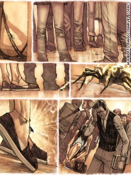 "A look at an upcoming issue of ""Amazing Spider-Man"" flashing back to the moment after Peter was bitten by a radioactive spider. It turns out he wasn't the only one."