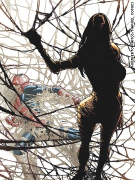 "The cover of ""Amazing Spider-Man"" #4 features the debut of the other person bitten by that spider, Silk."