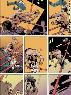"A look back at Peter's early days as a wrestler, showing off his spider powers (with a modern twist), in ""Amazing Spider-Man"" #1."