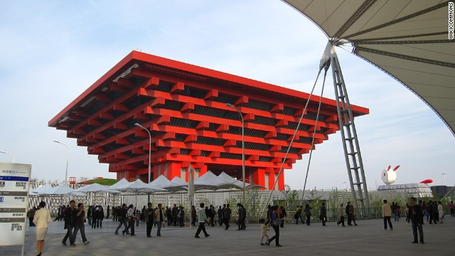 The China Art Palace was converted from the Chinese Pavilion at the Shanghai World Expo 2010.