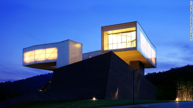 The Sifang Art Museum opened in Nanjing in 2013. Designed by American architect Steven Holl, the building is dedicated to contemporary art.