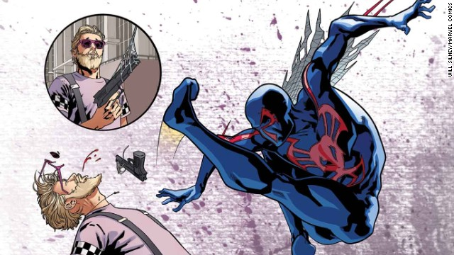 """A story about the future Spider-Man, """"Spider-Man 2099"""" is also part of """"Amazing Spider-Man"""" #1."""